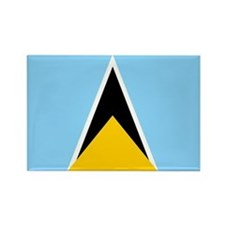 St. Lucia Flag Magnets