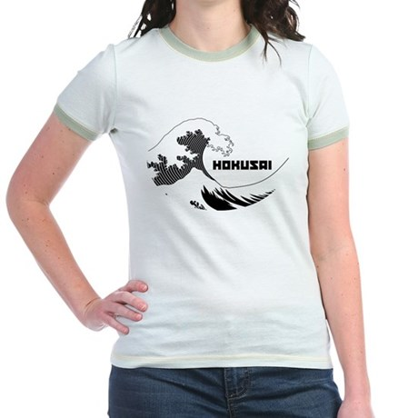 Hokusai Wave Jr Ringer T-Shirt