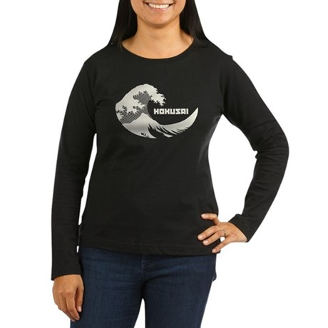 Hokusai Wave Womens Long Sleeve T-Shirt