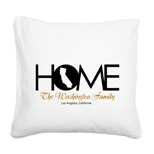 California Home Square Canvas Pillow