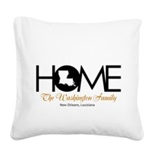 Louisiana Home Square Canvas Pillow
