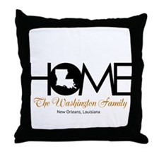 Louisiana Home Throw Pillow