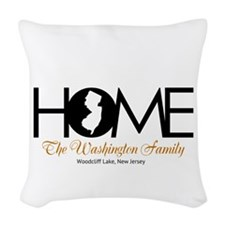 New Jersey Home Woven Throw Pillow