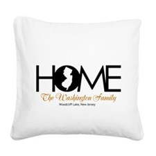New Jersey Home Square Canvas Pillow