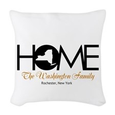 New York Home Woven Throw Pillow
