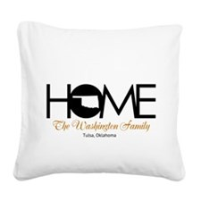Oklahoma Home Square Canvas Pillow