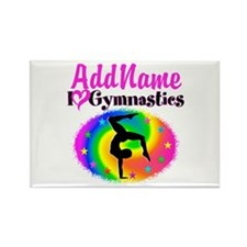 GYMNAST STAR Rectangle Magnet (10 pack)
