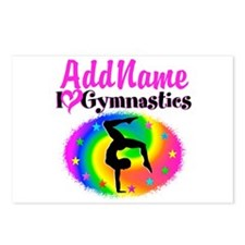 GYMNAST STAR Postcards (Package of 8)