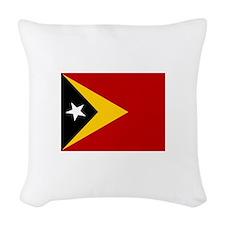 Timor-Leste Flag Woven Throw Pillow