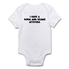 PORK AND BEANS attitude Infant Bodysuit