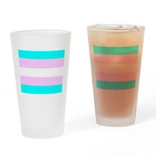 Transgender Flag Drinking Glass