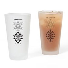 Gratitude and Love in Black Drinking Glass