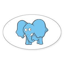 Cute Blue elephant Decal