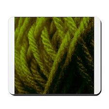 Dark Green Yarn Ball - Crafty Mousepad
