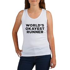 Worlds Okayest Runner - Black Print Tank Top