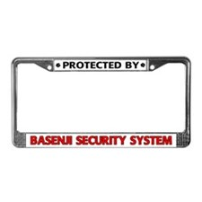 Basenji Security License Plate Frame