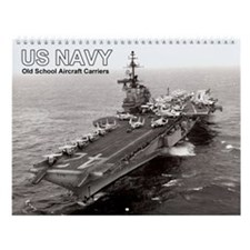 Us Navy Old School Aircraft Carriers Wall Calendar