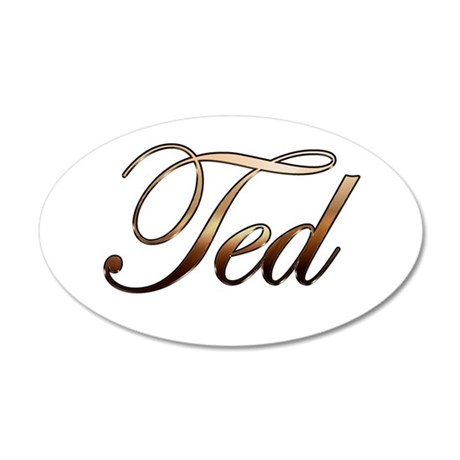 Ted 20x12 Oval Wall Decal