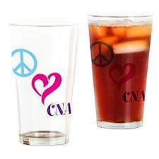Peace Love CNA Drinking Glass
