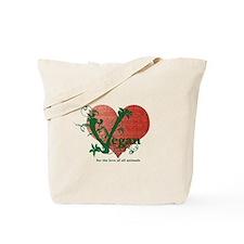 Vegan Heart Tote Bag