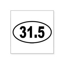 "Cute Marathon runners Square Sticker 3"" x 3"""