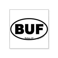 "Cute Buffalo Square Sticker 3"" x 3"""