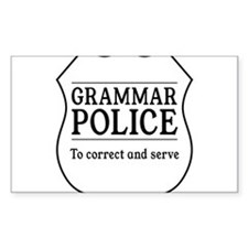 grammar police Decal