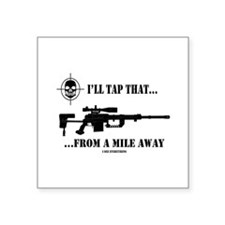 "Funny Army ranger Square Sticker 3"" x 3"""