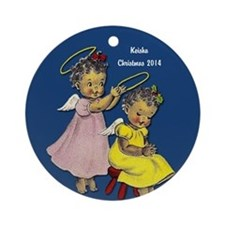 Personalized African American Ornament (round)