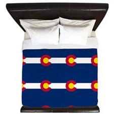 Colorado Flag Pattern King Duvet