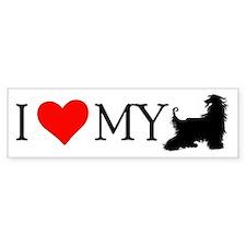 I Love my Afghan Hound Bumper Bumper Sticker