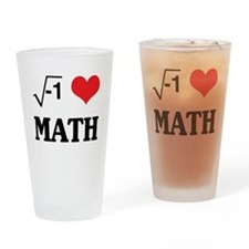 I heart math Drinking Glass