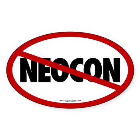 No Neocon Oval Sticker