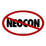 No Neocon Oval Bumper Stickers