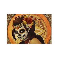Sugar Skull 023 Rectangle Magnet (10 pack)