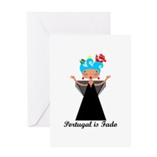 Portugal is fado Greeting Cards
