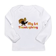 My First Thanksgiving Long Sleeve Infant T-Shirt