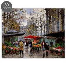 Flower Market at La Madeleine Puzzle