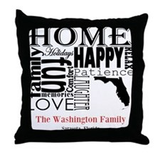 Florida Text Throw Pillow