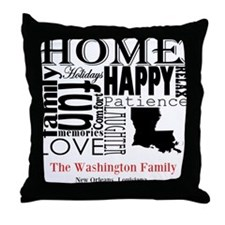 Louisiana Text Throw Pillow
