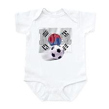 Soccer Flag Korea Infant Bodysuit