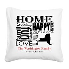 New York Text Square Canvas Pillow