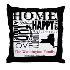 New York Text Throw Pillow