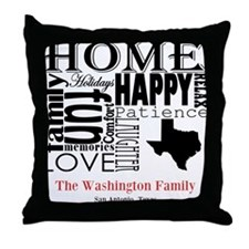 Texas Text Throw Pillow