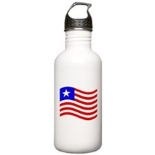 Waving Liberia Flag Water Bottle
