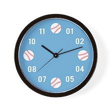 baseball-pattern-cafepress Wall Clock