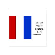 "Cool Sailing flag Square Sticker 3"" x 3"""
