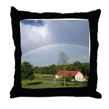 Farm Rainbow Throw Pillow