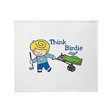 Think Birdie Throw Blanket