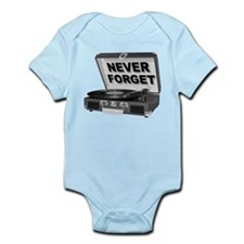 Never Forget Record Player Turntable LP Body Suit